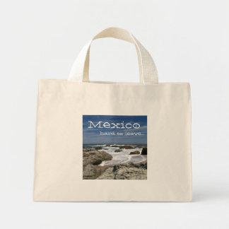 Rocky Surf; Mexico Souvenir Mini Tote Bag