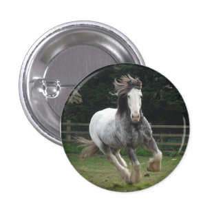 Rocky the Clydesdale badge 1 Inch Round Button