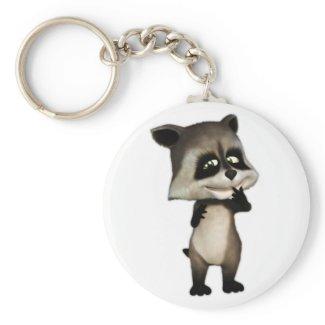 Rocky the Cute Cartoon Raccoon Key Chain