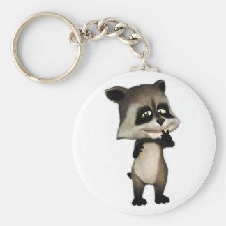 Rocky the Cute Cartoon Raccoon Keychain
