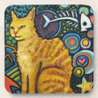 Rocky, The Rock Star Cat Products Beverage Coaster