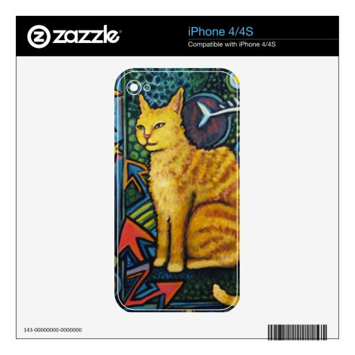 Rocky, The Rock Star Cat Products iPhone 4 Skins