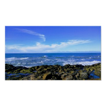 Art Themed Rocky View at Oregon Coast Poster