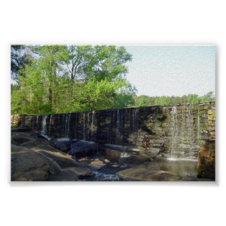 Rocky Waterfall at Yates Mill poster