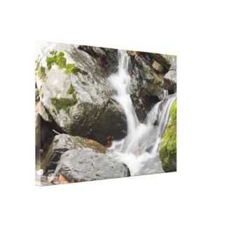 Rocky waterfall Stretched Canvas Print