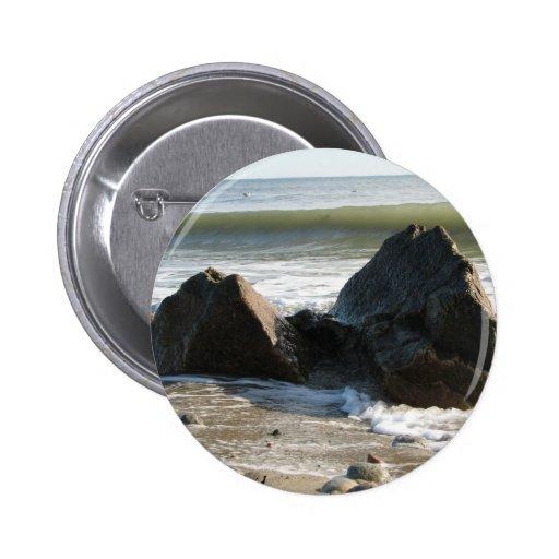 Rocky wave pinback buttons