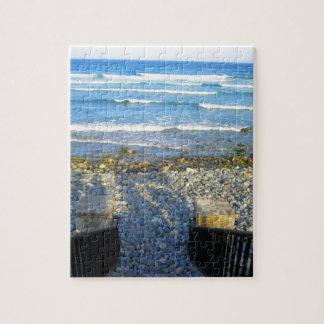 Rocky York Beach Access Jigsaw Puzzle