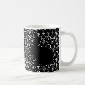 rococo and two bunnies coffee mug