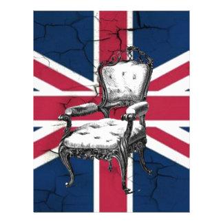 Rococo chair united kingdom union jack flag letterhead