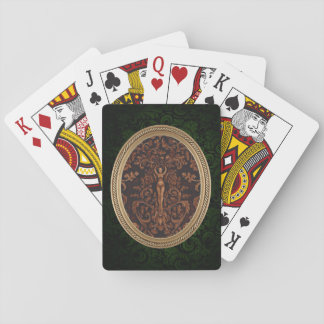 Rococo Goddess Playing Cards - Green