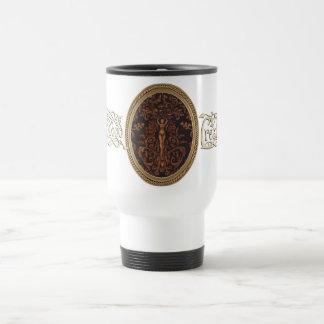 Rococo Goddess Travel Mug w Centered Logo - White