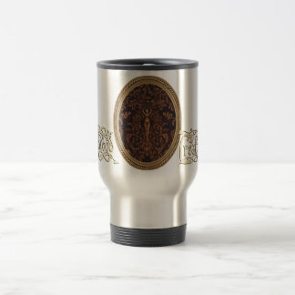 Rococo Goddess Travel Mug with Logo