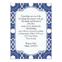 Rococo Indigo Beautiful Invitation