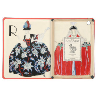ROCOCO LADIES BEAUTY,FASHION COSTUME DECO MONOGRAM COVER FOR iPad AIR