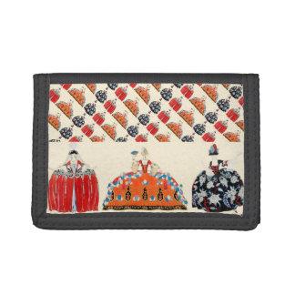 ROCOCO LADY ART DECO FASHION COSTUME DESIGNER TRIFOLD WALLET