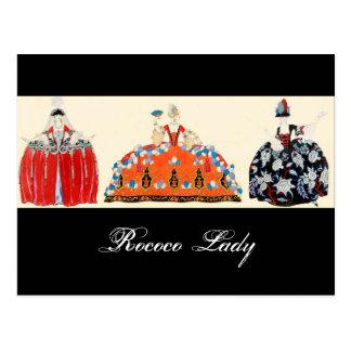 ROCOCO LADY FASHION COSTUME DESIGNER MAKEUP ARTIST POST CARDS