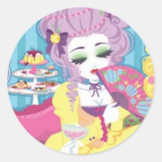Rococo lady mini sticker