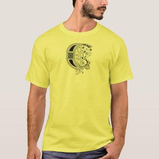 Rococo Monogram Letter C T-Shirt