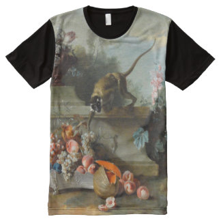 Rococo Painting for The Year of The Monkey 2016 All-Over Print T-shirt