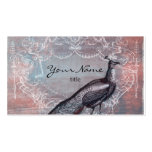 Rococo Peacock in Pink & Blue Business Cards