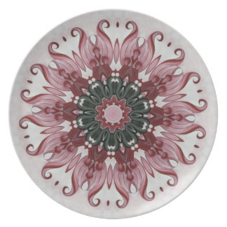 Rococo Red rosette No.103 Dinner Plate