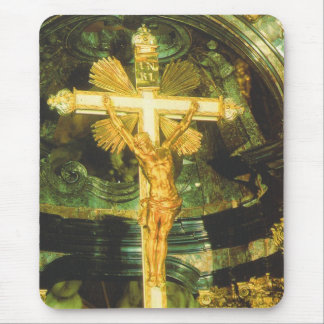 Rococo style crucifix in a Bavarian Church Mouse Pads