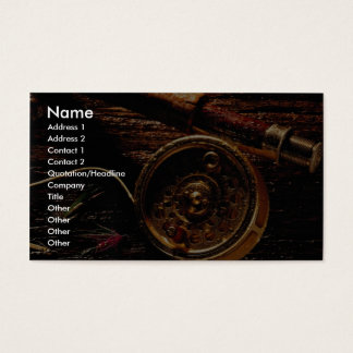 Rod and reel business card