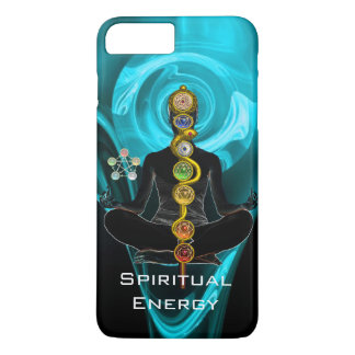 ROD ASCLEPIUS,7 CHAKRAS YOGA LOTUS POSE Blue iPhone 8 Plus/7 Plus Case