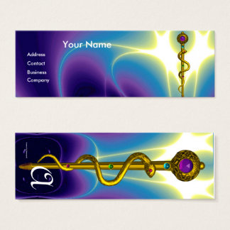 ROD ASCLEPIUS MEDICAL HEALTH CARE Monogram Purple Mini Business Card