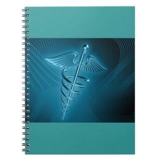 Rod azul de Asclepius Note Book