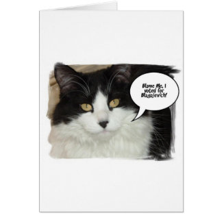 Rod Blagojevich Cat Humor Card