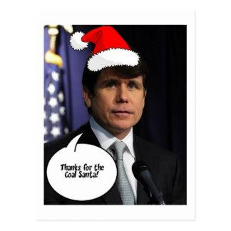 Rod Blagojevich Christmas Postcard