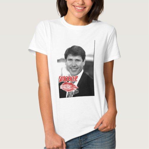 Rod Blagojevich/tarjeta del día de San Valentín Playera