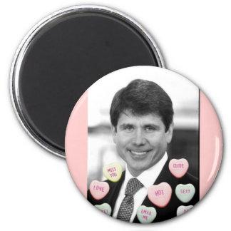 Rod Blagojevich Valentine's Day 2 Inch Round Magnet
