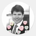 Rod Blagojevich Valentine's Day Classic Round Sticker