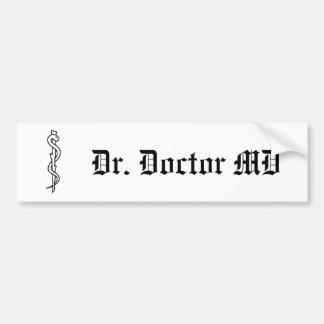 Rod de Asclepius [símbolo médico] Pegatina Para Auto