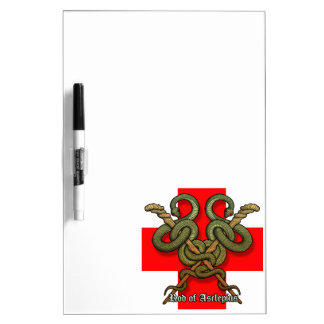 Rod of Asclepius4 Dry Erase Board