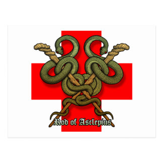 Rod of Asclepius4 Postcard