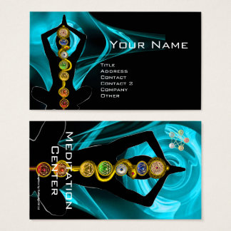 ROD OF ASCLEPIUS,7 CHAKRAS YOGA LOTUS POSE BUSINESS CARD
