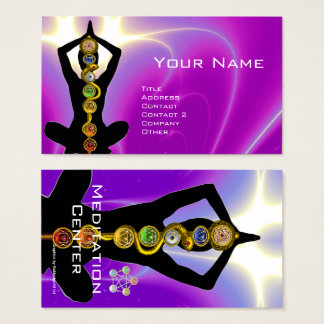 ROD OF ASCLEPIUS,7 CHAKRAS YOGA LOTUS POSE Pink Business Card