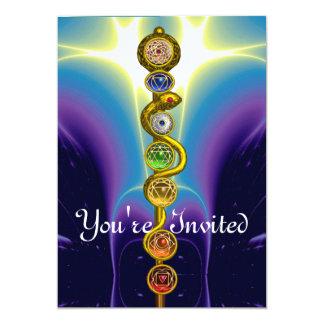 ROD OF ASCLEPIUS 7 CHAKRAS,YOGA ,SPIRITUAL ENERGY CARD