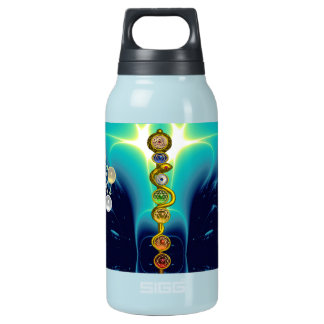 ROD OF ASCLEPIUS 7 CHAKRAS,YOGA ,SPIRITUAL ENERGY INSULATED WATER BOTTLE
