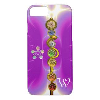 ROD OF ASCLEPIUS 7 CHAKRAS,YOGA ,SPIRITUAL ENERGY iPhone 8/7 CASE