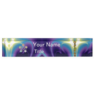 ROD OF ASCLEPIUS,7 CHAKRAS,YOGA,SPIRITUAL ENERGY NAME PLATE
