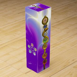 ROD OF ASCLEPIUS 7 CHAKRAS,YOGA ,SPIRITUAL ENERGY WINE BOX