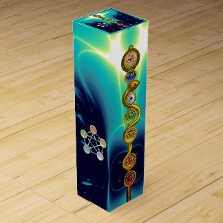 ROD OF ASCLEPIUS 7 CHAKRAS,YOGA ,SPIRITUAL ENERGY WINE GIFT BOX