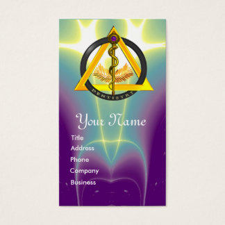 ROD OF ASCLEPIUS DENTIST DENTISTRY APPOINTMENT BUSINESS CARD