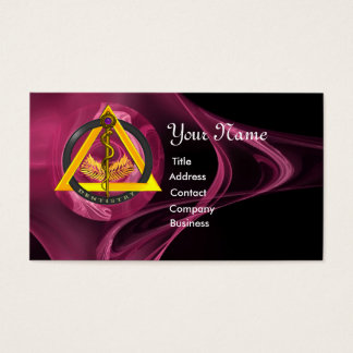 ROD OF ASCLEPIUS DENTIST DENTISTRY BUSINESS CARD