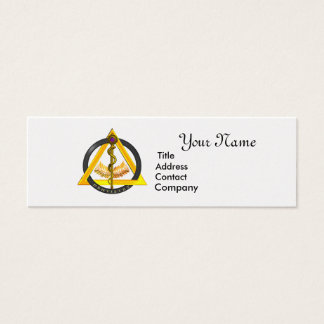 ROD OF ASCLEPIUS DENTIST DENTISTRY GOLD METALLIC MINI BUSINESS CARD