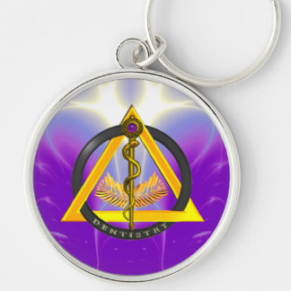 ROD OF ASCLEPIUS DENTIST DENTISTRY KEYCHAINS
